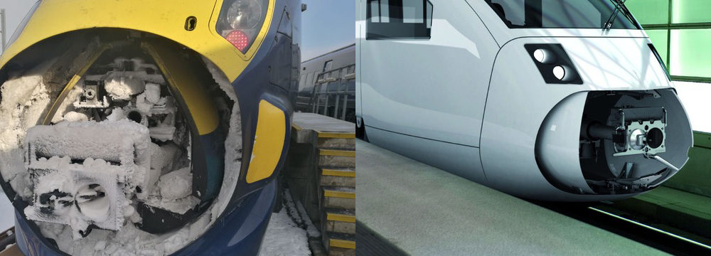 Flexible heating solution for rolling stock